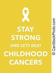 童年, 癌症, 海報