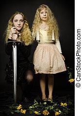 童話, -, 公主, 以及, the, 戰士