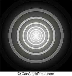 端, トンネル, ライト, ラウンド, 黒, 白, しまのある