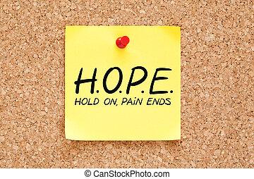 端, 概念, 痛み, 把握, 希望