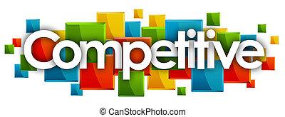 競争, 長方形, 単語, カラードの背景