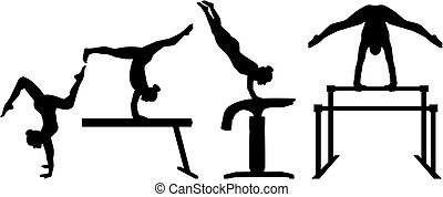 競争, four-part, 体操