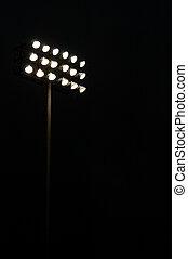 競技場, ライト, 上に, a, スポーツフィールド, 夜で, ∥で∥, コピースペース