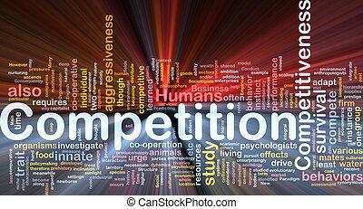 競爭, 背景, 概念, 發光