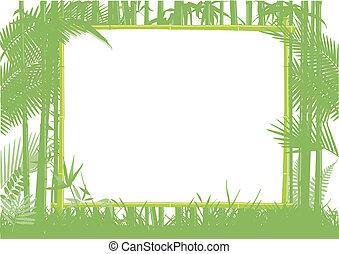 竹子, 叢林, 框架