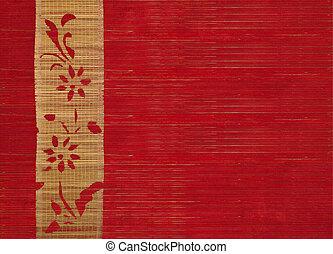 竹子, 花, 旗幟, 背景
