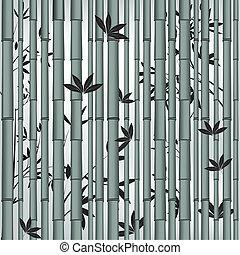 竹, アジア人, 森林, seamless