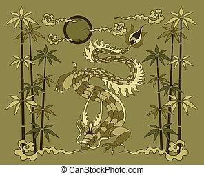 竹, ドラゴン