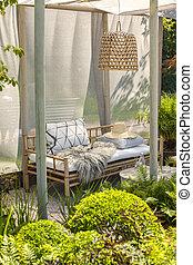 竹, 庭家具