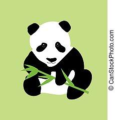 竹, 緑, パンダ