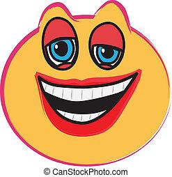 笑い, 顔