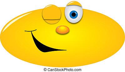 笑臉符, 眨眼