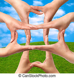符号, 医学, 横越, 从, 手
