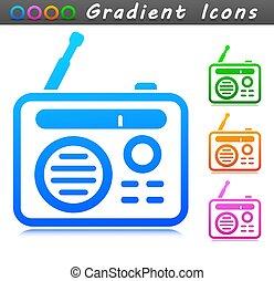 符号, 收音机, 设计, 图标, 矢量