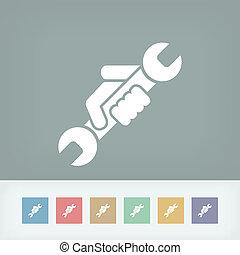 符号, wrench, 图标
