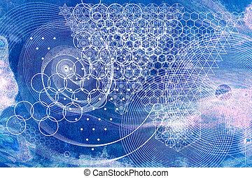 符號, 元素, 背景, 神聖, 幾何學