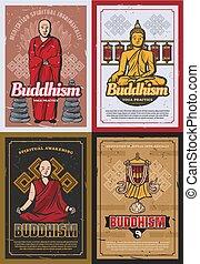 符號, 宗教, 佛教, 佛教徒, 修士