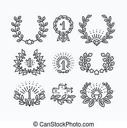 符號, 線, 集合, 胜利