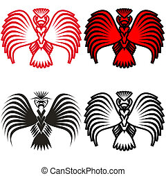 符號, 鷹, 矢量, 插圖, 紋身