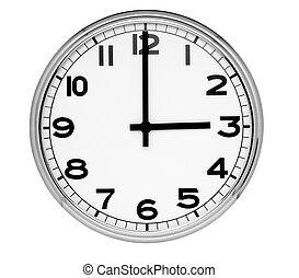 第一流, 墙壁钟, 隔离, 三, 阅读, 背景, 白色