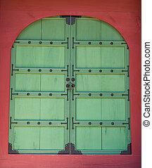 第一流, 木制的門, 在, 韓國語, 風格, 3