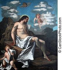 第14, 站, ......的, the, 產生雜種, 耶穌, 是, 放置, 在, the, 墳, 以及, 蓋, 在, 熏香, 避難所, ......的, 街, agatha, 在, schmerlenbach