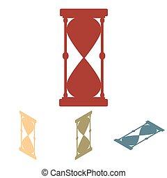 等大, シルエット, hourglass., set., 効果, ベクトル, 黒