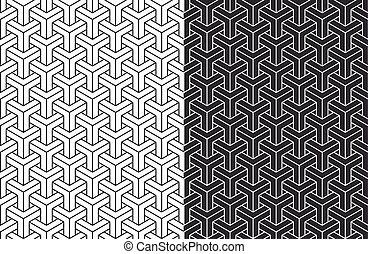 等大, セット, パターン, seamless, 背景, 3d