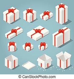 等大, セット, 箱, 贈り物