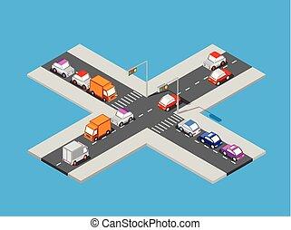 等大, 交差点, 交通
