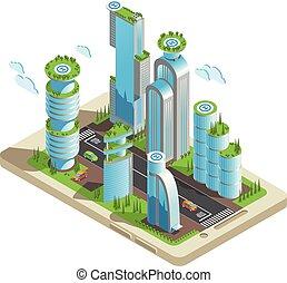 等大, 有色人種, 構成, 未来派, 超高層ビル