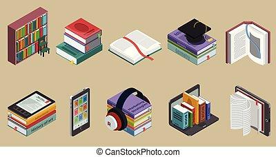 等大, 本, カラフルである, コレクション