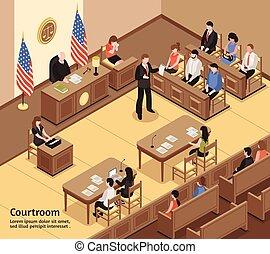 等大, 法廷, イラスト