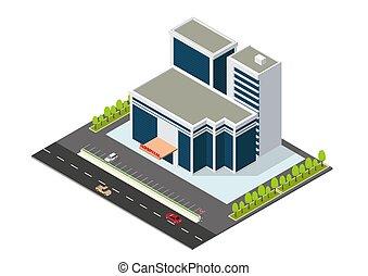 等大, 現代建物, 病院