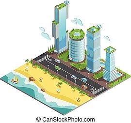 等大, 超高層ビル, 未来派, 構成