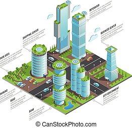 等大, 超高層ビル, 未来派, infographics