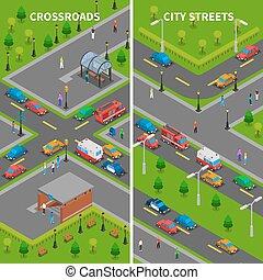 等大, 通り, 交通, 旗, 縦