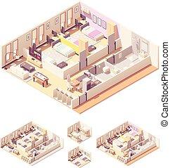 等大, 部屋, 寄宿舎, ベクトル, 寮, ∥あるいは∥