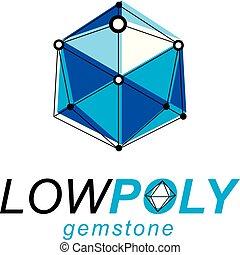 等大, illustration., 技術, 抽象的, シンボル。, poly, ベクトル, 低い, 建設, 企業である