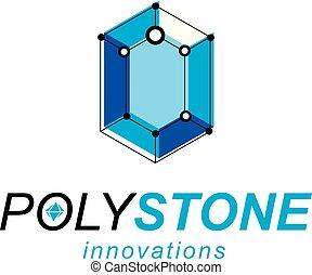等大, illustration., 産業, シンボル。, poly, ベクトル, 低い, 建設, 建設, 抽象的