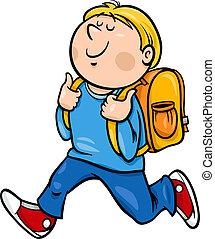 等級, 男の子, 漫画, イラスト, 学生