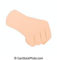 等量, 風格, 被緊握, 手, 拳頭, 圖象, 3d
