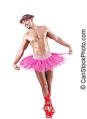 筋肉, バレエ, 実行者, 中に, 面白い, 概念