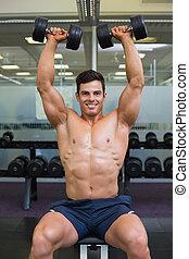 筋肉, 人間が運動する, ジム, ダンベル
