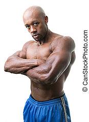 筋肉, 人, 交差する 腕