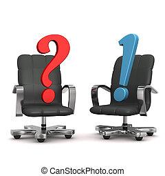 答え, 肘掛け椅子, 質問