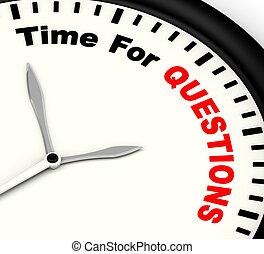 答え, needed, 質問, 時間, メッセージ, ショー