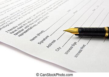 签名, 在中, 文件