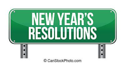 签署, 宣布, 'new, 年` s, resolutions'