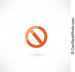 签署, 禁止, 图标